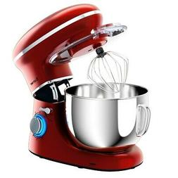 6.3 Quart Tilt-Head Food Stand Mixer 6 Speed 660W - Red