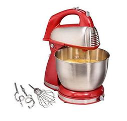 Hamilton Beach Classic Hand and Stand Mixer RED 4-quart, 6-s