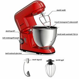Costway Electric Food Stand Mixer 6 Speed 4.3Qt 550W Tilt-He