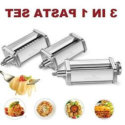 3-Piece Pasta Roller and Cutter Set fit KitchenAid Stand Mix