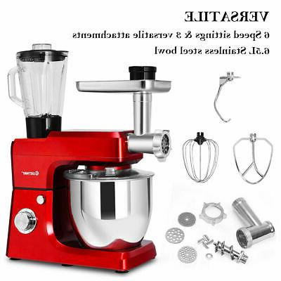 3 In 1 Stand Mixer 7QT Stainless Meat Grinder Blender
