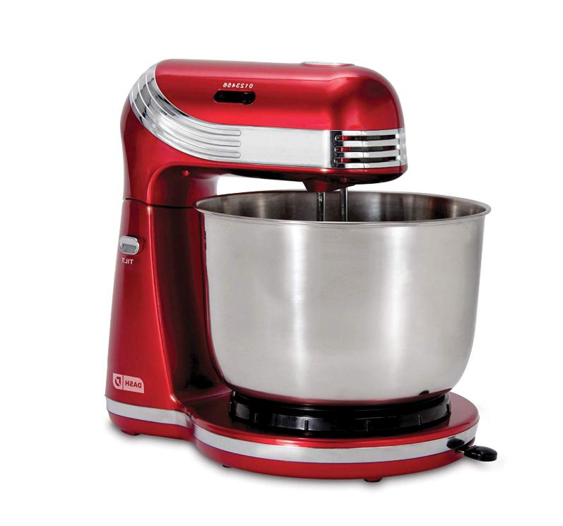 6 Speed Electric Stand Mixer 3 Qt Stainless Bowl Portable Co