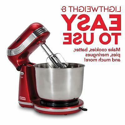 6 Speed Electric Stand Dough Cake Red