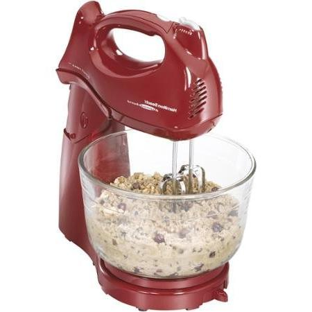 Hamilton Beach, Power Deluxe 4-quart Stand Mixer in Red Colo