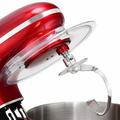 Electric Mixer 6 Speed 6.3 660W Tilt Head Steel Red