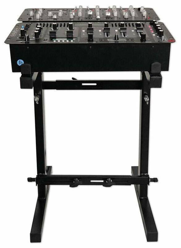 Rockville Portable Mixer Stand - Adjustable Height And Width