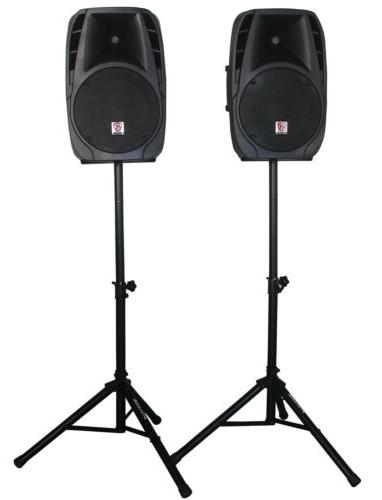 Rockville RPG2X12 System Speakers+Stands+Mics+Bluetooth