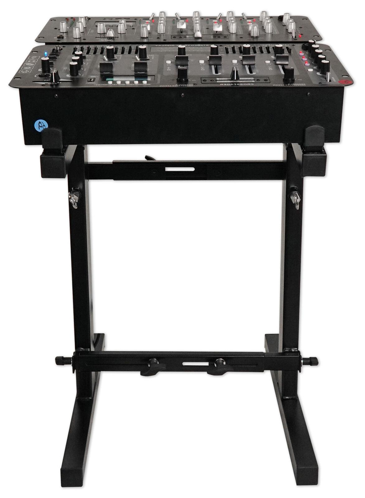 Rockville RXS20 Portable Mixer Stand w/ Adjustable Height an