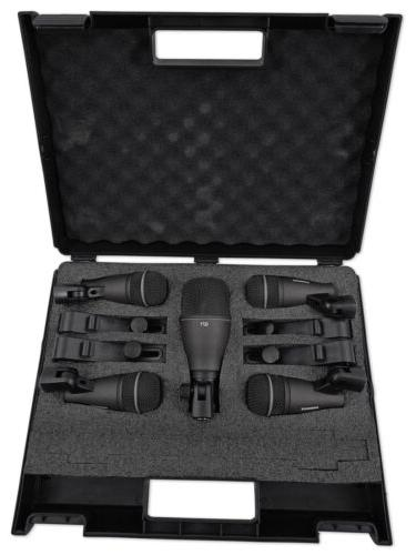 Samson DK705 Kit-Q71 Kick Mic+ Snare/Tom Mics+Mixer+Stand