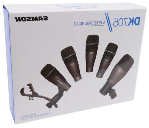 Samson DK705 Drum Microphone Kit-Q71 Mic+ Snare/Tom