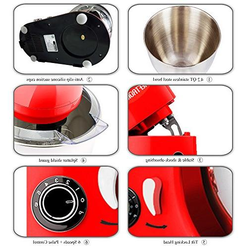 CHEFTRONIC 350W Speeds Tilt-head Compact Bowl with Pouring for Mother's Xmas, Wedding, Birthday