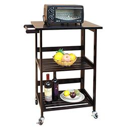 DlandHome Microwave Cart Stand, 3-Tier Storage Shelf Unit On