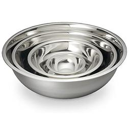 ChefLand Mixing Bowl, Large, Stainless Steel, Set of 4 Sizes
