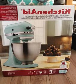 New KitchenAid 4.5 QT Tilt-head Stand Mixer Ice Blue, Blue G