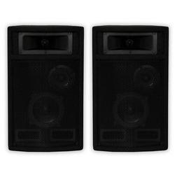 Acoustic Audio PA-500X Passive 800W 3-Way Speaker Pair DJ PA