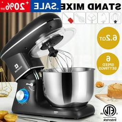 Pro Electric Food Stand Mixer 6.2QT Tilt-Head 6 Speed Stainl