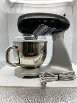Smeg SMF01BLUS 50's Retro Style Aesthetic Stand Mixer , Blac