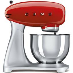 Smeg 1950's 50's Retro Style Aesthetic 5 Qt Stand Mixer Red