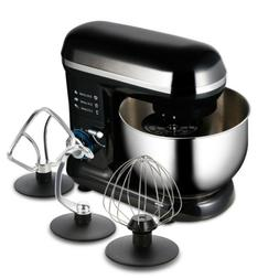 US Food Stand Mixer 6 Speed 5.9Qt 600W Tilt-Head Stainless S